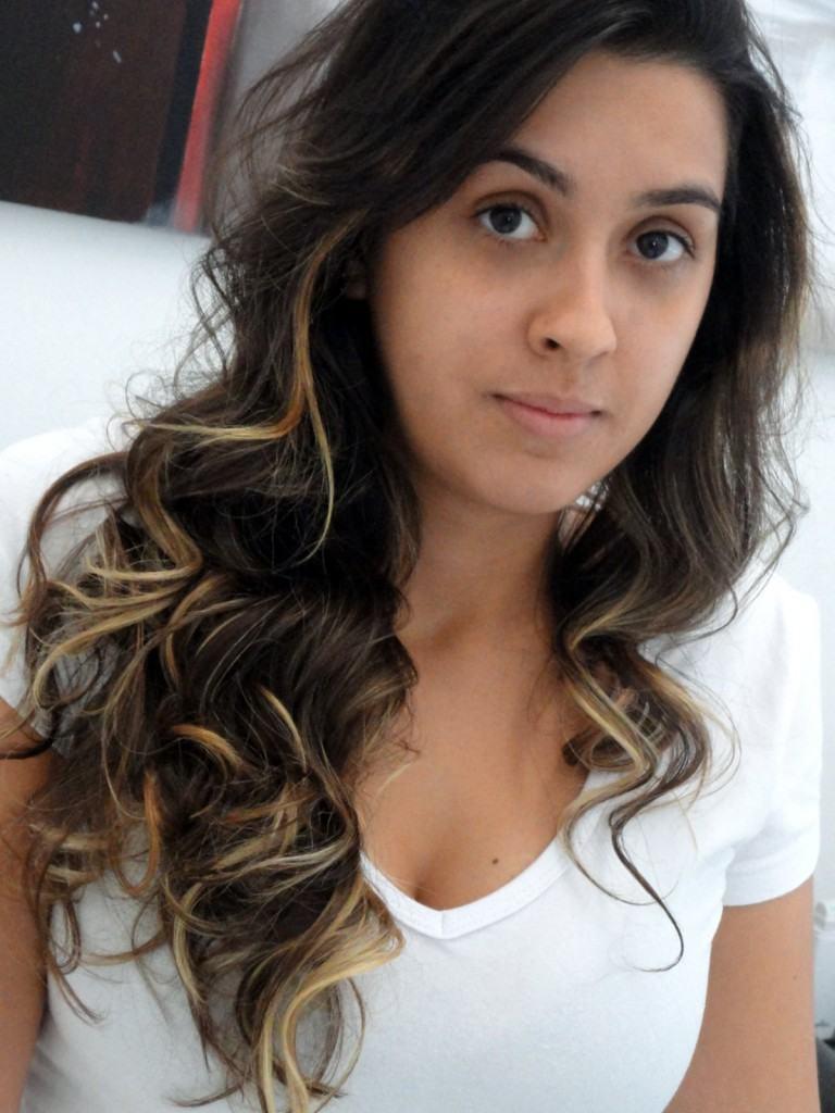 luzes para cabelos pretos