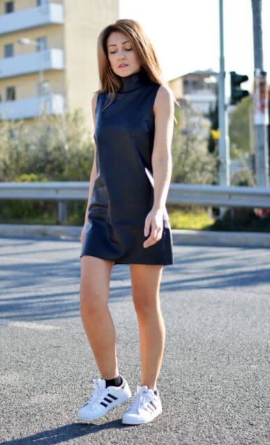 vestido curto com tenis 1 - Vestido Curto da Moda ( Veja como usar )