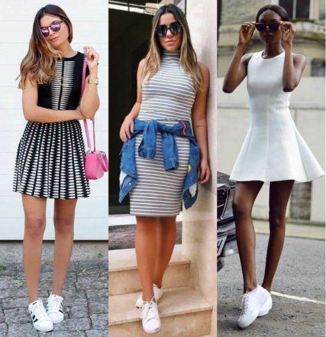 vestido curto com tenis 3 470x485 - Vestido Curto da Moda ( Veja como usar )