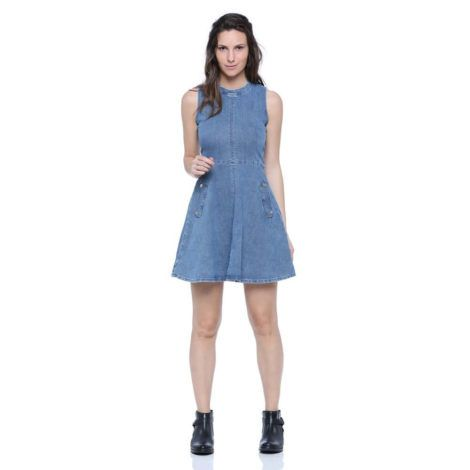 vestido curto jeans 2 470x470 - Vestido Curto da Moda ( Veja como usar )