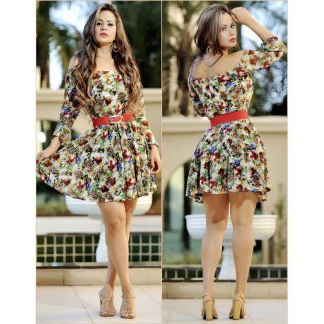 vestido curto rodado com estampas 470x470 - Vestido Curto da Moda ( Veja como usar )