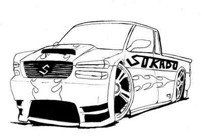 Desenhos De Carros Rebaixados Com Som Para Pintar