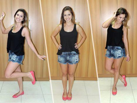 looks com blusas regatas 5 470x353 - LOOKS COM BLUSAS REGATAS para toda hora ( Com saia, shorts ou calça )