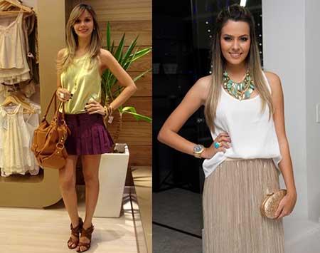 looks com blusas regatas 8 - LOOKS COM BLUSAS REGATAS para toda hora ( Com saia, shorts ou calça )