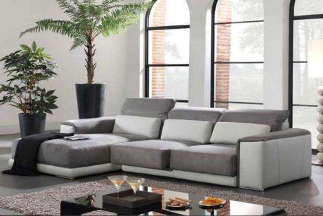 sofa 3 lugares chaise 470x315 - MÓVEIS PARA SALA DE ESTAR E JANTAR decoração ideal do ambiente