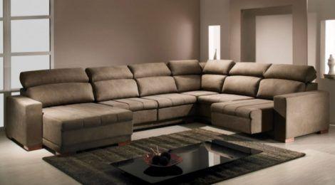 sofa de canto em L varios lugares 470x260 - MÓVEIS PARA SALA DE ESTAR E JANTAR decoração ideal do ambiente