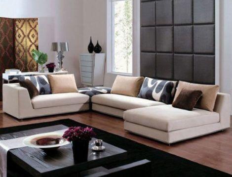 sofa moderno 470x358 - MÓVEIS PARA SALA DE ESTAR E JANTAR decoração ideal do ambiente