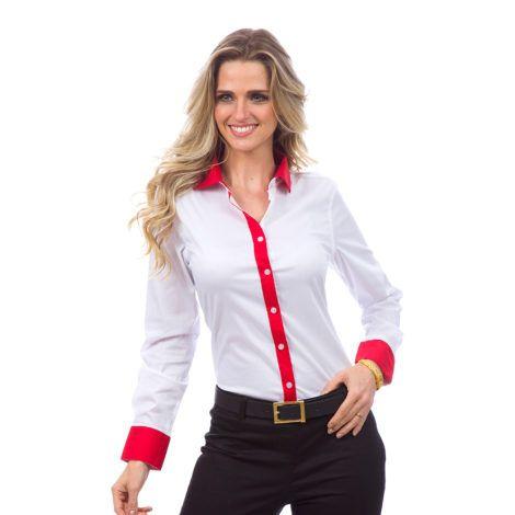 camisa branca feminina 1 470x470 - CAMISA BRANCA FEMININA usada com calça, shorts ou saia