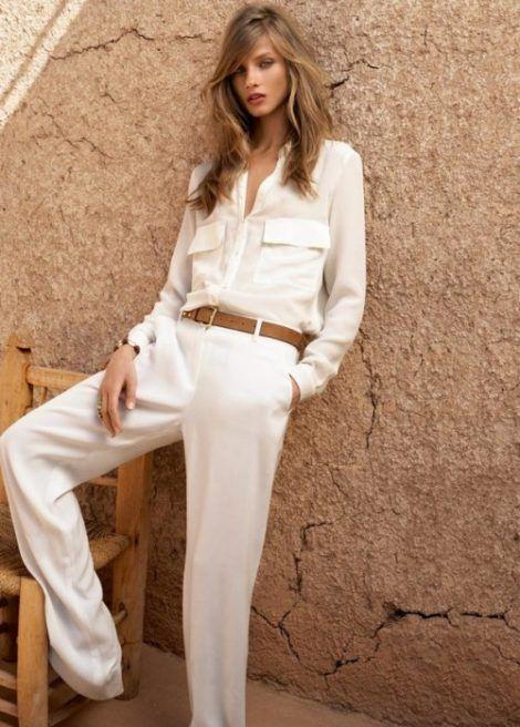 camisa branca feminina 10 470x656 - CAMISA BRANCA FEMININA usada com calça, shorts ou saia