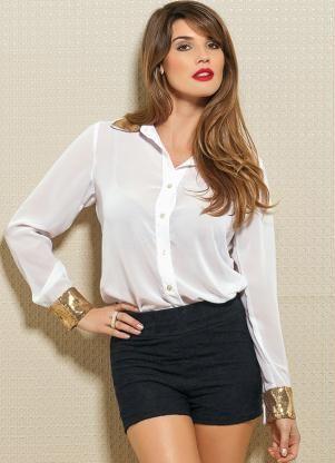 camisa branca feminina 3 - CAMISA BRANCA FEMININA usada com calça, shorts ou saia