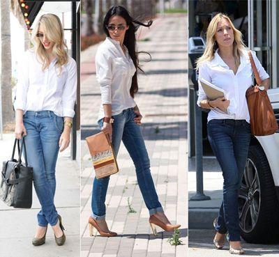 camisa branca feminina 7 - CAMISA BRANCA FEMININA usada com calça, shorts ou saia