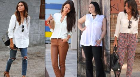 camisa branca feminina 8 470x261 - CAMISA BRANCA FEMININA usada com calça, shorts ou saia