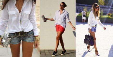 imagem 15 1 470x238 - CAMISA BRANCA FEMININA usada com calça, shorts ou saia