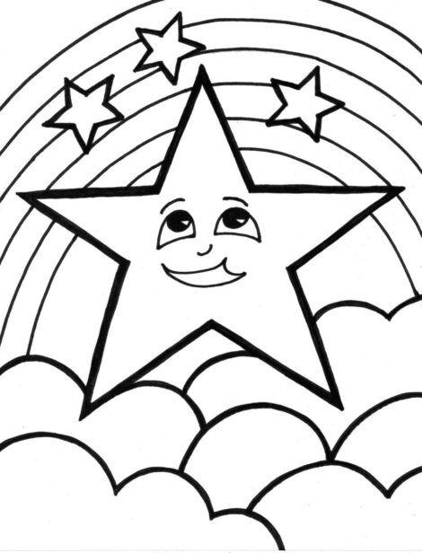 desenhos de estrela para colorir 7 470x616 - Desenhos de ESTRELA PARA COLORIR diversão de criança