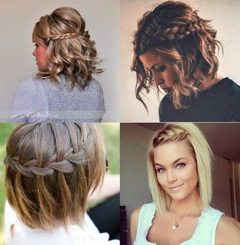 penteados para cabelos curtos 1 470x480 - Os CORTES E penteados cabelos curtos 2018