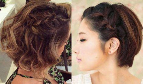 penteados para cabelos curtos 5 470x277 - Os CORTES E penteados cabelos curtos 2018