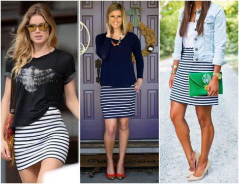 como usar saias listradas curtas 470x362 - SAIAS LISTRADAS curtas ou longas para um look original