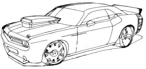 desenhos para colorir de carros 5 470x223 - Desenhos para colorir de CARROS para meninos