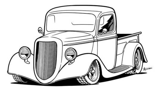 coloring pages car back view - photo#27