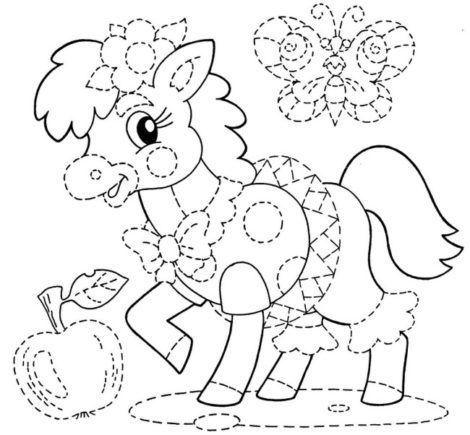 imagem 19 1 470x435 - Desenhos de CAVALO PARA COLORIR para crianças
