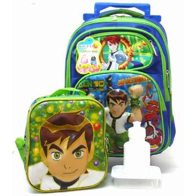 mochila de rodinha ben 10 - Mochila de RODINHAS PARA menino e menina para estudar