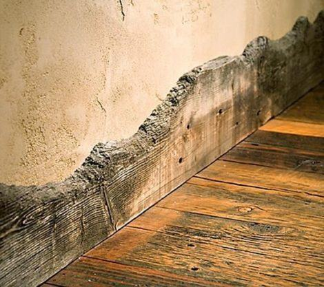 rodape rustico 470x417 - RODAPÉ de madeira para apartamento ou casa, veja ideias