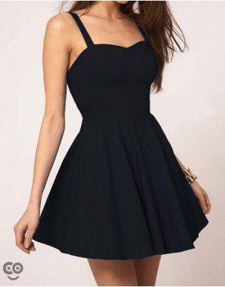 vestido de alcinha preto curto - VESTIDOS PRETOS CURTOS OU LONGOS looks inspiradores