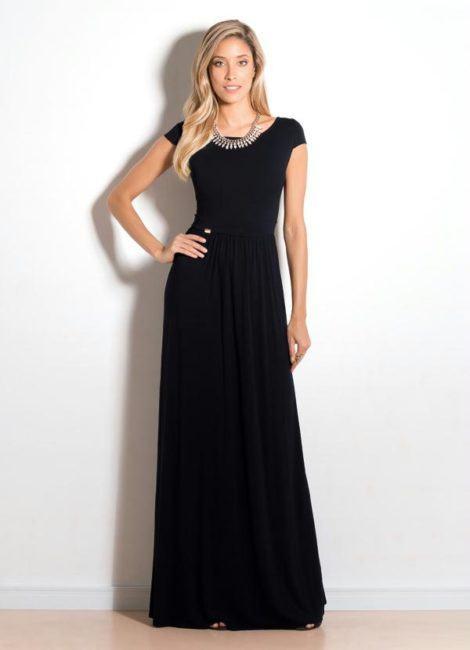 vestidos longos pretos 470x650 - VESTIDOS PRETOS CURTOS OU LONGOS looks inspiradores