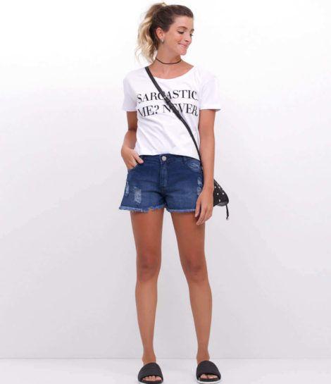 blusinha com short 2 470x545 - BLUSAS DE MALHA femininas, Looks Com Calça, saia, Short