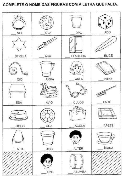 atividades para alfabetizacao 6 470x677 - ATIVIDADES DE ALFABETIZAÇÃO para leitura e pintura