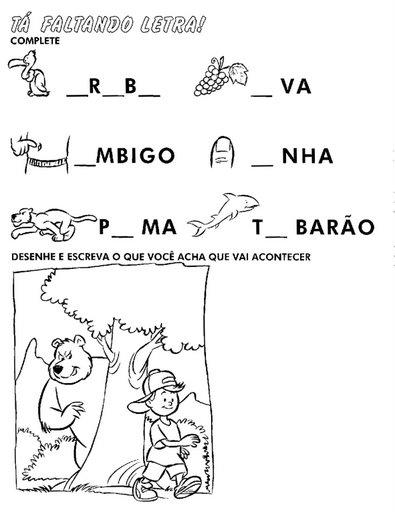 atividades para alfabetizacao 8 - ATIVIDADES DE ALFABETIZAÇÃO para leitura e pintura