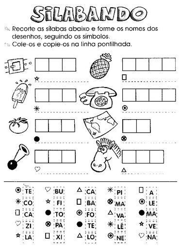 atividades para alfabetizacao atividades para alfabetizar 1 - ATIVIDADES DE ALFABETIZAÇÃO para leitura e pintura
