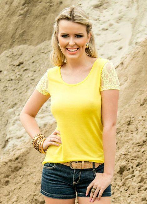 blusa de renda amarela 8 470x650 - BLUSA DE RENDA AMARELA, modelos para usar com saia e shorts