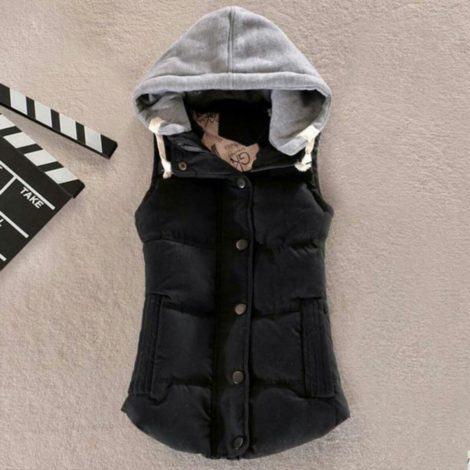 colete feminino de inverno com toca 470x470 - COLETE FEMININO DE INVERNO muitas opções pra sair e arrasar