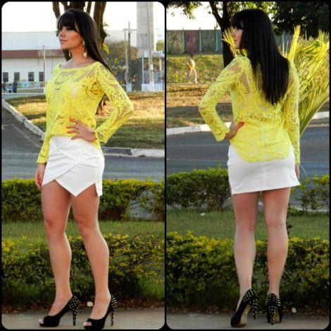 imagem 19 2 470x470 - BLUSA DE RENDA AMARELA, modelos para usar com saia e shorts