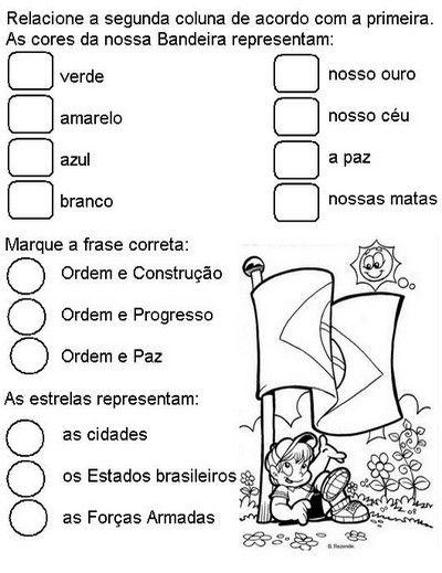 atividades para o dia da bandeira 1 - Atividades sobre o DIA DA BANDEIRA para fazer em sala de aula