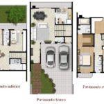 dicas de plantas de sobrados de 3 andares 150x150 - Plantas de sobrados de 3 andares com vários quartos