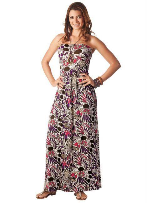 imagem 13 470x650 - VESTIDO FLORAL TOMARA QUE CAIA, curto ou longo moda verão