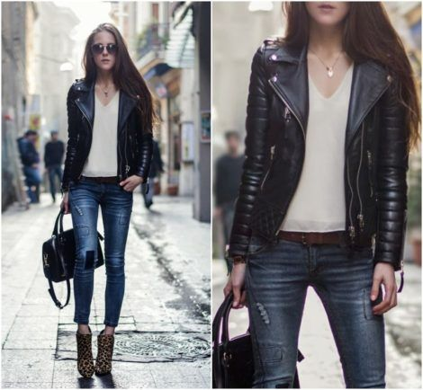 jaquetinhas de couro femininas 1 470x434 - Modelos roupas femininas inverno 2018 da moda