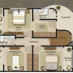modelos de plantas de sobrados de 3 andares 150x150 - Plantas de sobrados de 3 andares com vários quartos