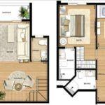 plantas de sobrados de 3 andares 150x150 - Plantas de sobrados de 3 andares com vários quartos
