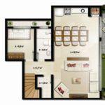 plantas de sobrados de 3 andares com piscina 150x150 - Plantas de sobrados de 3 andares com vários quartos
