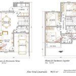 plantas de sobrados de 3 quartos para imprimir 150x150 - Plantas de sobrados de 3 quartos grandes e com closet