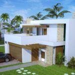 projetos de plantas de sobrados de 3 andares 150x150 - Plantas de sobrados de 3 andares com vários quartos