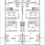 projetos de plantas de sobrados geminados 150x150 - Plantas de sobrados geminados com 2 ou 3 quartos
