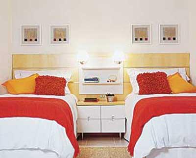 quarto solteiro duas camas 2 - Dicas sobre Quarto planejado de solteiro com DUAS CAMAS
