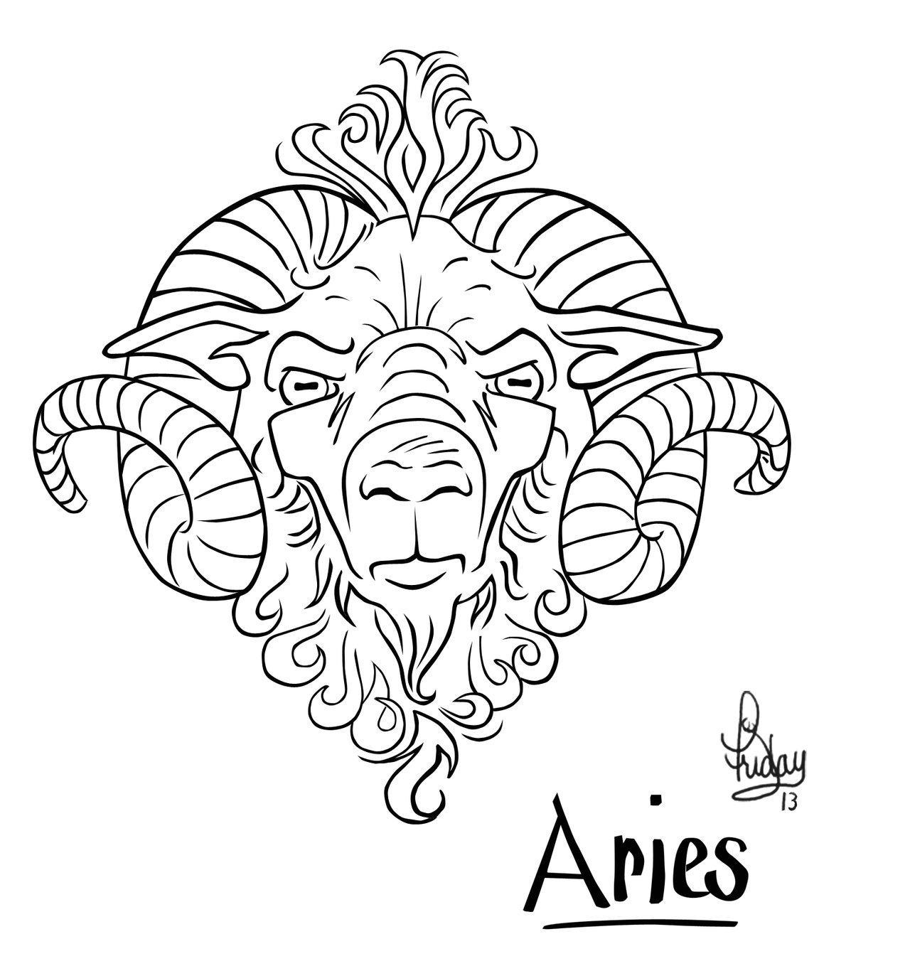 simbolo do signo de aries para tatuagens