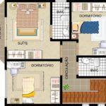 tipos de plantas de sobrados de 3 andares 150x150 - Plantas de sobrados de 3 andares com vários quartos