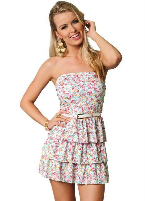 vestido floral tomara que caia com babados 470x650 - VESTIDO FLORAL TOMARA QUE CAIA, curto ou longo moda verão