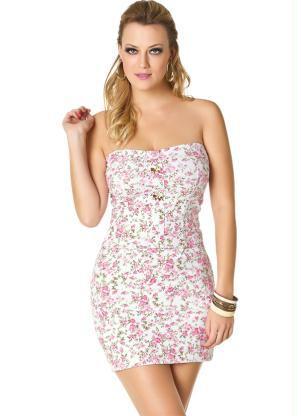 vestido justo tomara que caia floarl - VESTIDO FLORAL TOMARA QUE CAIA, curto ou longo moda verão